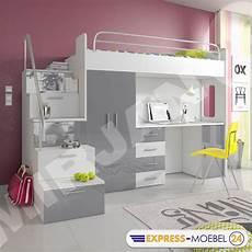 Hochbett Etagenbett Multimo 4s Kinderbett Mit Schreibtisch