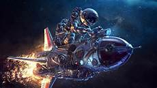 Astronaut Rocket Wallpaper Spaceship Astronaut