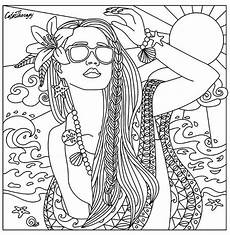 beach babe coloring page beautiful women coloring pages