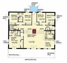 bermed house plans attractive berm house plan 35458gh architectural