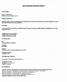 mba fresher resume sle pdf resume format for freshers