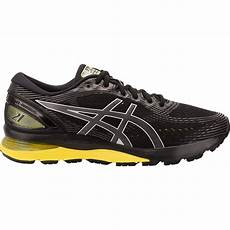 asics gel nimbus 21 mens running shoes black lemon