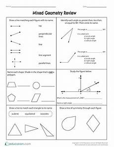 geometry review worksheets with answers 878 mixed geometry review fifth grade math 10th grade geometry math worksheets