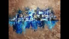 peinture tableau moderne peinture abstraite au couteau acrylique facile