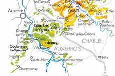 Carte De Chablis Et Du Grand Auxerrois