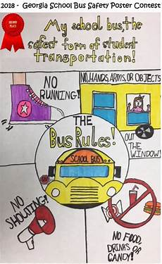 2018 school bus safety poster contest winners 2
