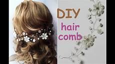 easy diy hair comb tiara bridal headpiece hair vine