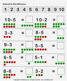subtraction within 10 worksheets for grade 1 10475 subtracting dot figures up to ten worksheet turtle diary