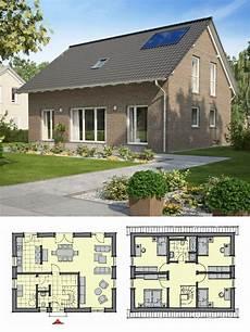haus bauen ideen satteldach haus mit klinker fassade 5 zimmer grundriss einfamilienhaus bauen ideen