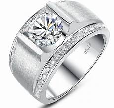 high quality real 925 sterling silver diamond wedding ring 1ct engagement men ring chic jewelry