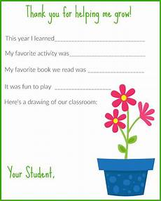thank you card template for students from a thank you letter for teachers free printable