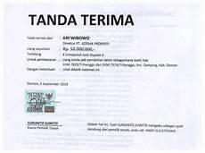 contoh surat tanda terima uang contoh hu