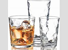 Drinking Glasses Kitchen Glassware Mix Set Of 12 Clear