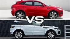 jaguar e pace vs land rover evoque 2018 jaguar e pace vs 2016 range rover evoque
