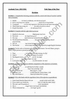 time revision worksheets 3176 signs of the time revision esl worksheet by missfifi