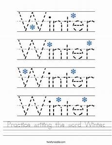 free winter handwriting worksheets 20021 practice writing the word winter worksheet twisty noodle