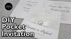 how to make a lace pocket wedding invitation diy