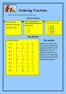 fraction worksheets tes 4113 ordering fractions by bcooper87 teaching resources
