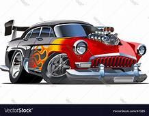 Retro Cartoon Hotrod Royalty Free Vector Image