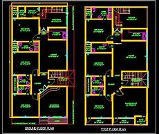 house plan dwg duplex house 30 x60 autocad house plan drawing free