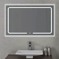 led spiegel touch sensor led badspiegel badezimmer leuchtspiegel spiegel 80 100 120