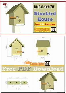 bluebird houses plans bluebird house plans pdf download construct101