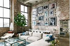 home design brooklyn loft with aged brick concrete floors and exposed beams