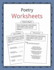 basic poetry worksheets 25244 language arts worksheets lesson plans study for