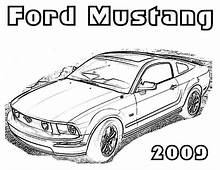 Drawing Mustang Car Coloring Pages  Best Place To Color