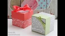 Kiste Selber Basteln - anleitung box mit deckel 6x6x6 cm stin up