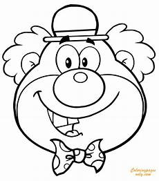 clown coloring page free coloring pages