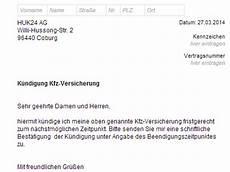 kündigung versicherung vorlage huk24 kfz versicherung k 252 ndigung vorlage chip