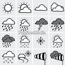 Malvorlagen Zahlen Xing Wettersymbole Stockfoto 1042521 Bildagentur