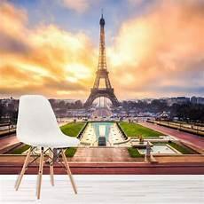 soggiorno parigi torre eiffel alba murale landmark parigi sfondo soggiorno