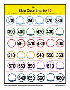 skip counting by 10 s worksheet for kindergarten 12022 skip counting by 10s worksheets 2nd grade math activities