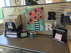 Decorating Ideas For Office Cubicle by Cubical Decor Black White Gold And Mint Work Cubicle