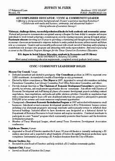 civic leader political resume exles cover letter for resume student resume template