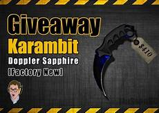 karambit doppler factory new csgo skin giveaway https
