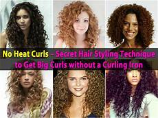 how to style curly hair without frizz no heat curls secret hair styling technique to get big