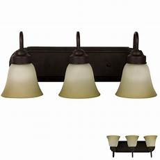 oil rubbed bronze three globe bathroom vanity light bar fixture frosted glass ebay