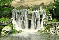 Gambar Gambar Vektor Gratis Air Terjun Alam Musim Gugur