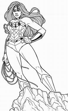 Female Superheroes Colouring Pages Free Photos