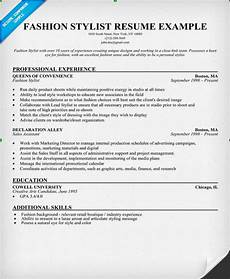 how to write the best resume for a in the fashion