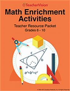 algebra enrichment worksheets 8396 math enrichment activities printable book 6 10 resources for teachers teachervision