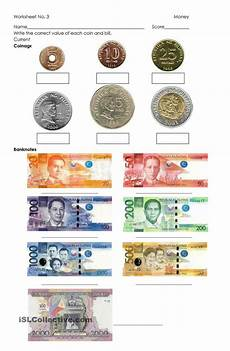 identifying paper money worksheets 15693 money philippine coins and bills money worksheets money kindergarten money math