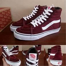 sepatu vans sk merah size jual sepatu vans vans sk8 high maroon vans merah marun vans premium vans ori sneakers