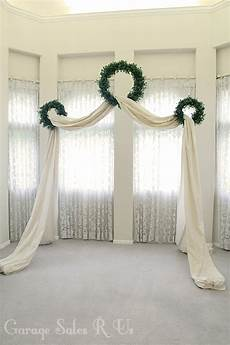 garage sales r us diy wedding archway