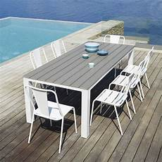 Table De Jardin 8 10 Personnes En Aluminium Et Composite