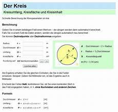 quadratmeter kreis berechnen kreis umfang kreisfl 228 che formel und kreisberechnung