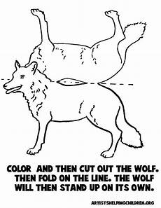 Malvorlagen Wolf Craft Wolf Stand Up Paper Model To Print Out Craft For